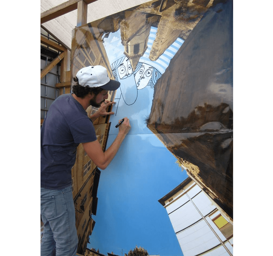 Wix User Thomas Lamadieu at work on his Sky Art project
