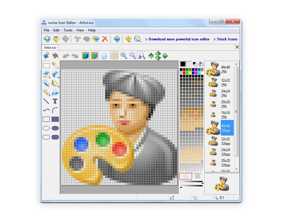 Junior Icon Editor ファビコン作成ツール