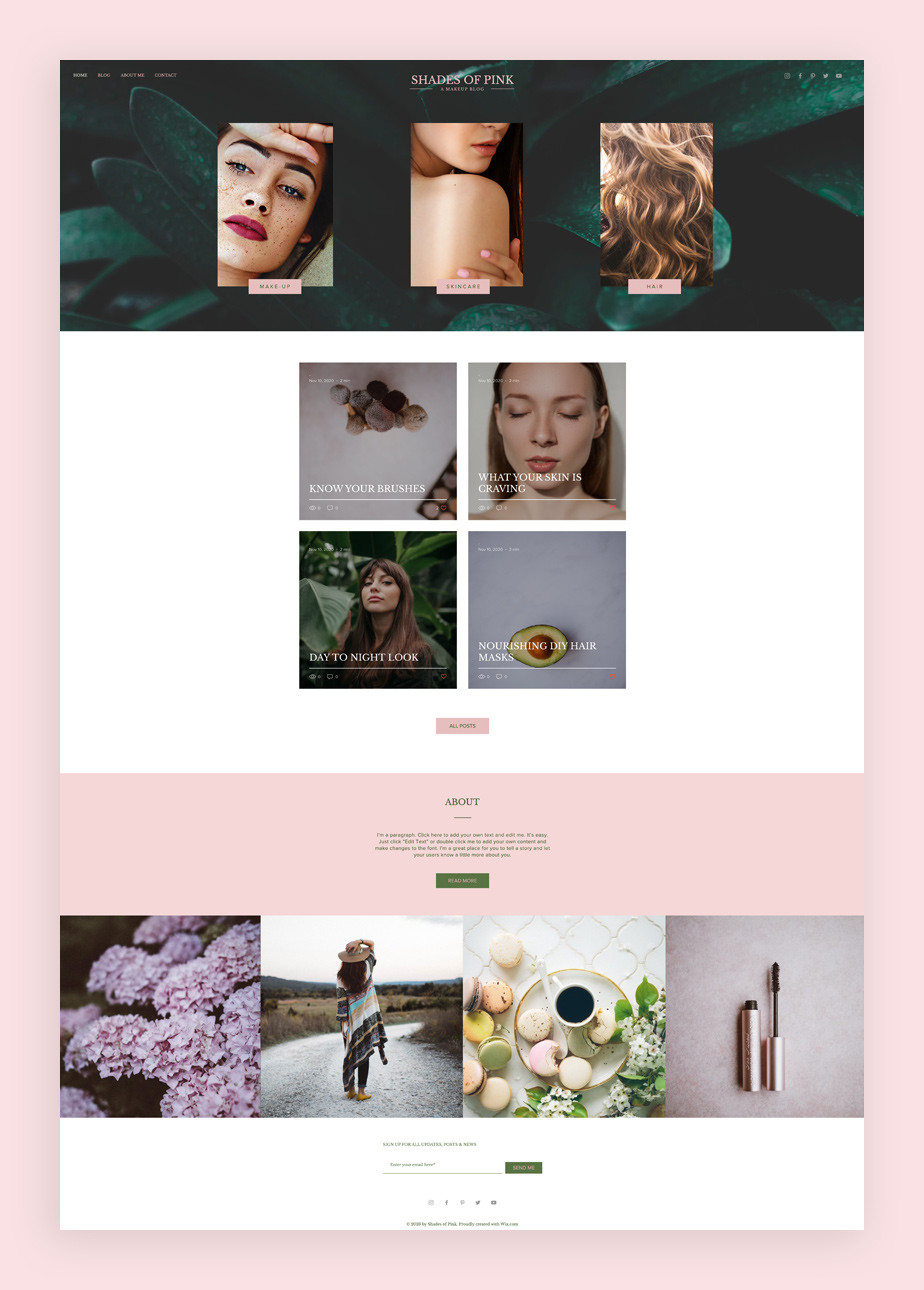 Plantilla para blog de maquillaje