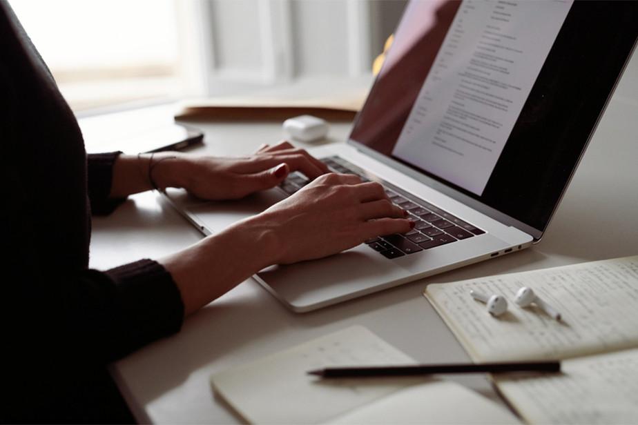 Candidato creando su CV online en Wix