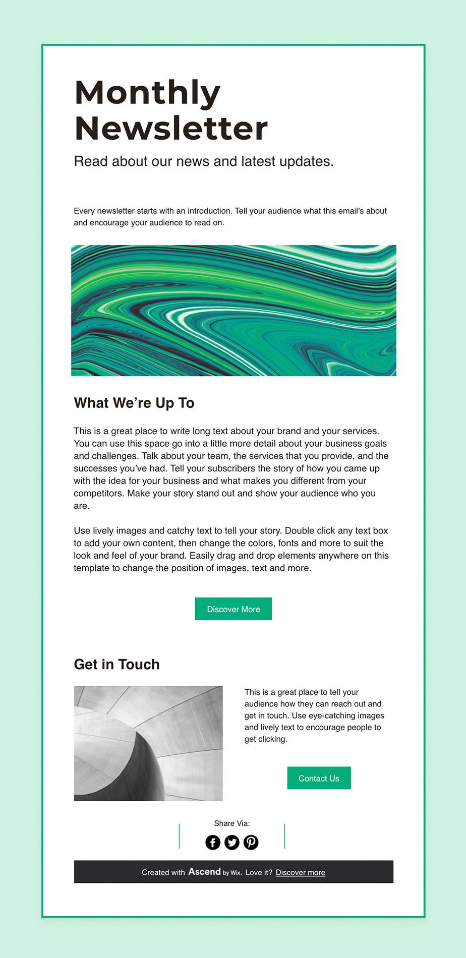 Newsletter erstellen mit Wix