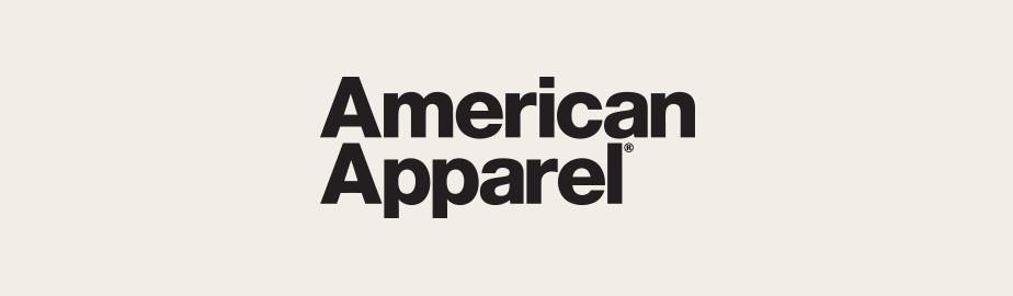 American Apparel Logo als Beispiel für ein modernes Logo