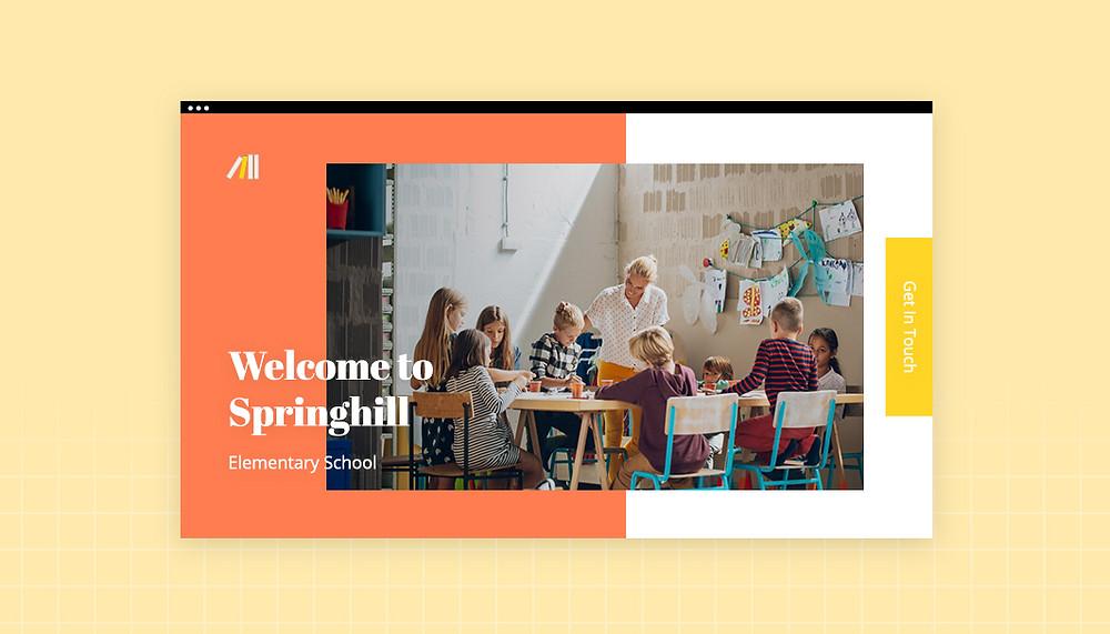 멋진 학교 홈페이지 디자인하기 블로그 게시물 헤더 이미지