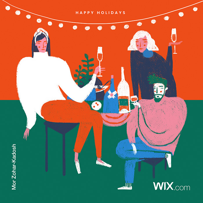 Online holiday greeting card from Wix community