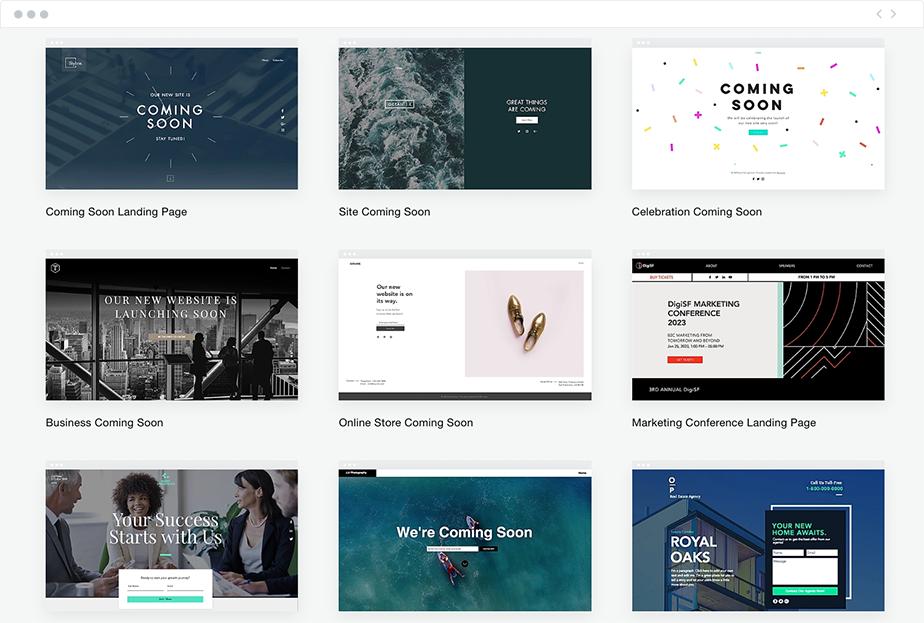 Wix landing page tasarım örnekleri