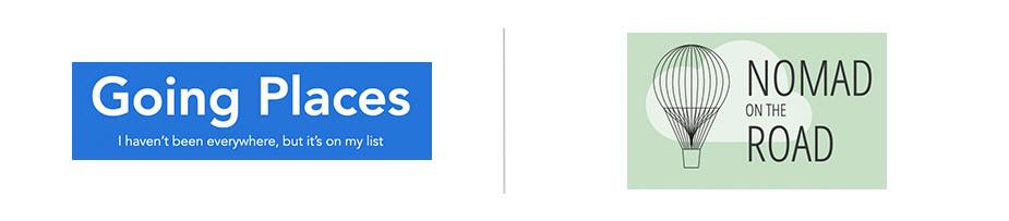 Logos de blogs sobre viagens