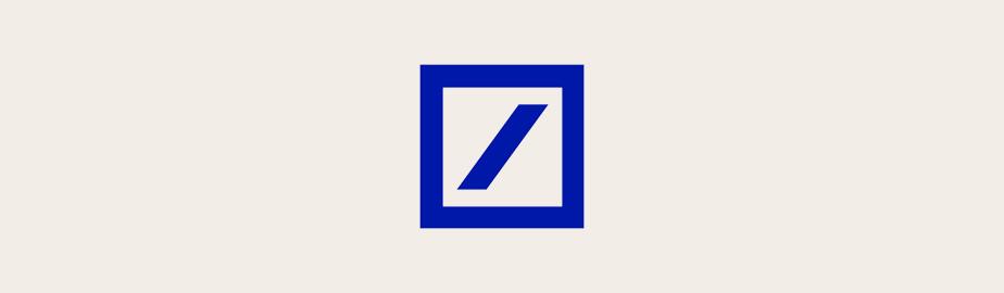 Das Logo der Deutschen Bank als Beispiel für modernes Logodesign