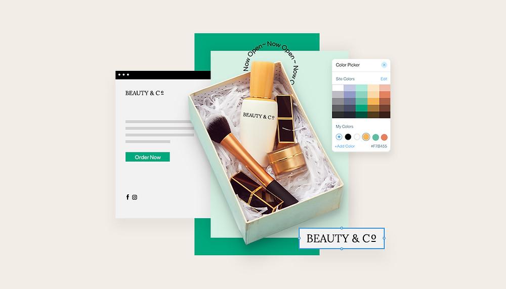 iş kurmak için örnek site içeriği, güzellik ürünleri ve renk plaeti