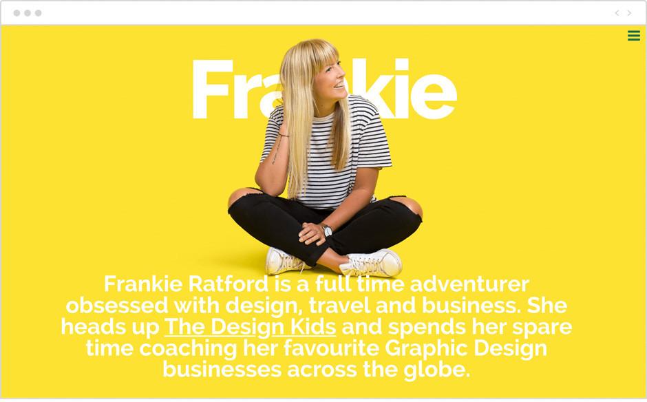 Sito personale di Frankie Ratford