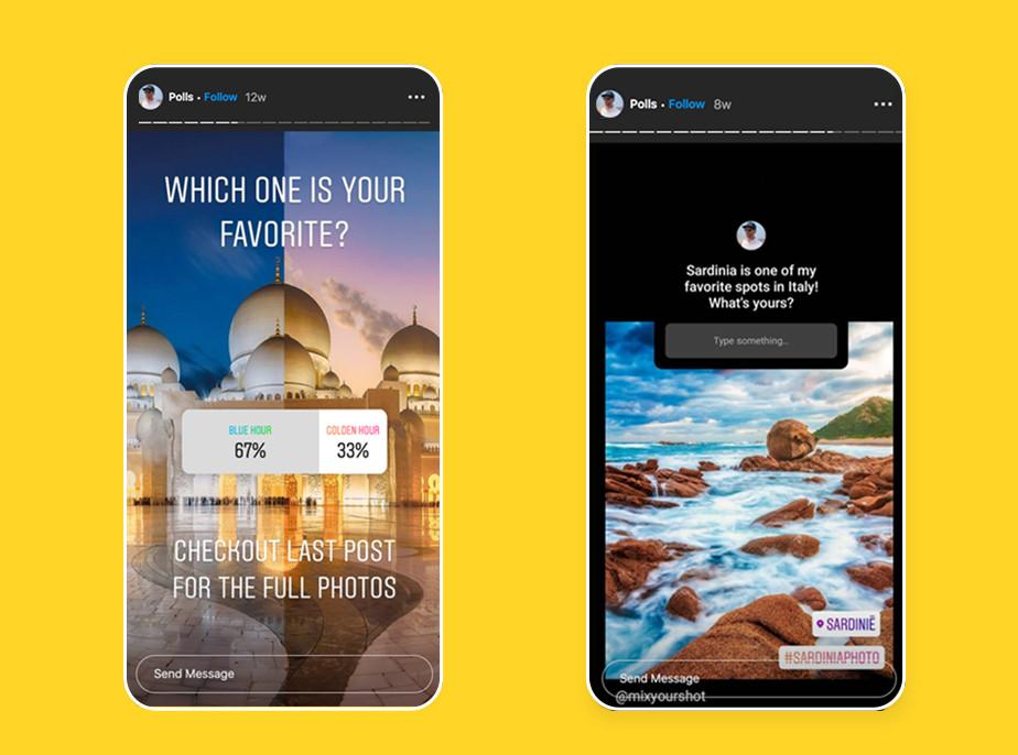 Wykorzystaj ankiety i inne funkcje Instagram Stories, aby rozpocząć rozmowę