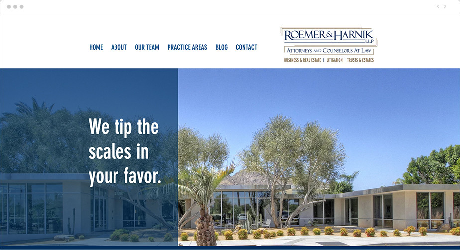 Best law firm websites Roemer & Harnik