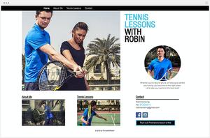 Site de cours de tennis par Wix