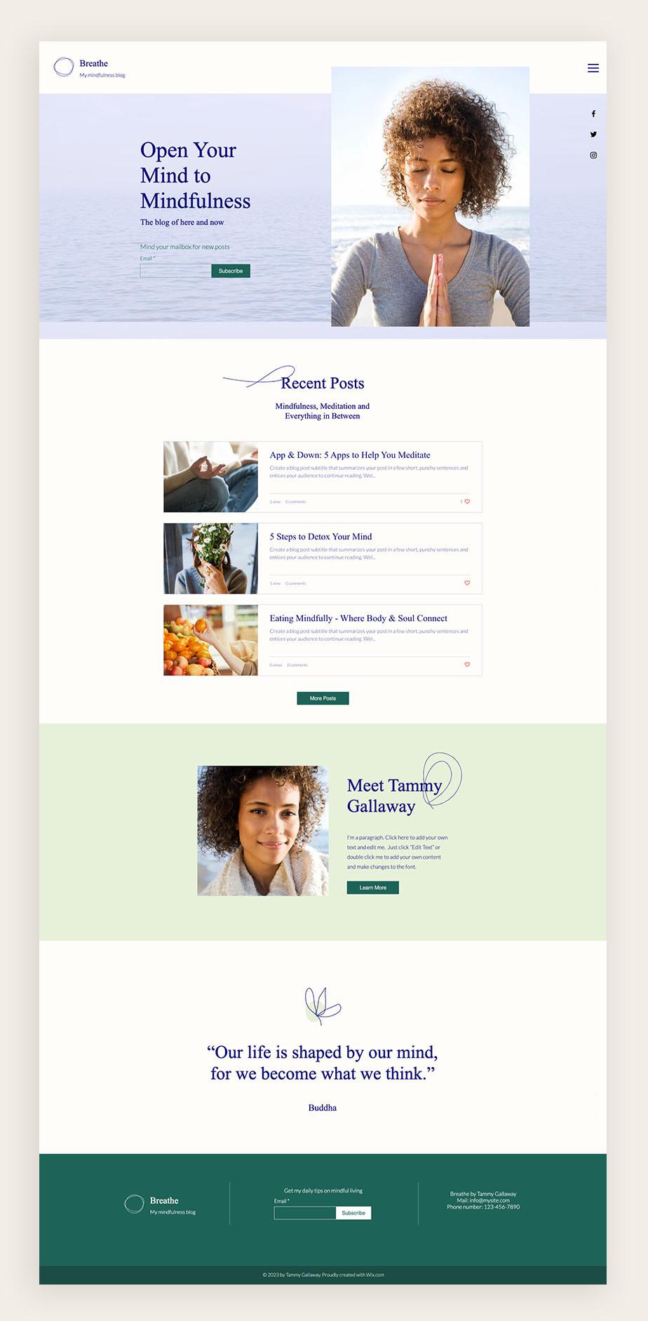 Пример блога для бизнеса