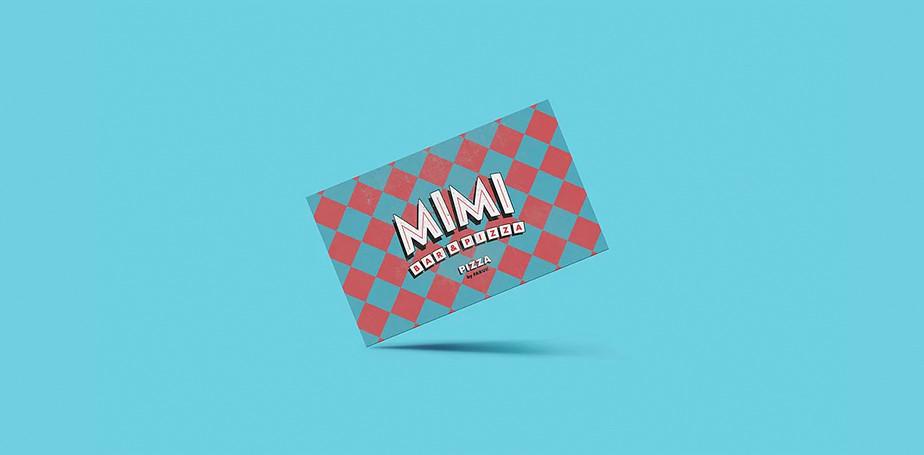 Ejemplo de una tarjeta de presentación azul
