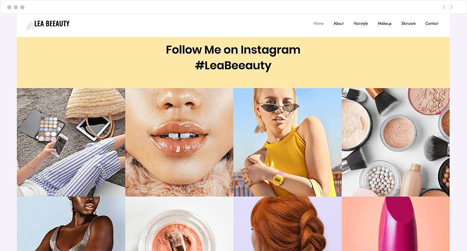 Flux Instagram - site one-page