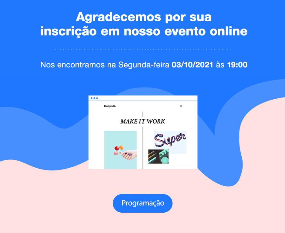 Exemplo de email automático criado com as Automações Wix