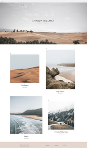 Wix templates: Landscape photographer template