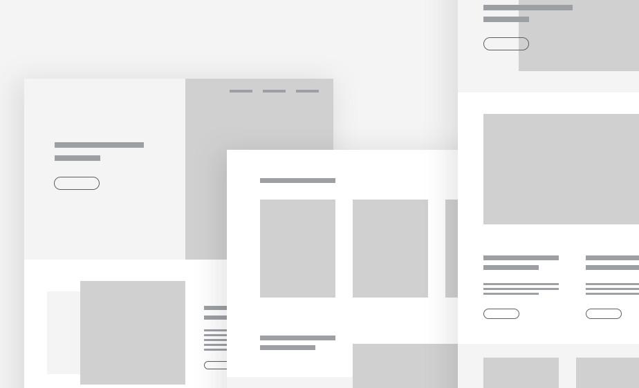 Ejemplo de wireframe en diseño UX