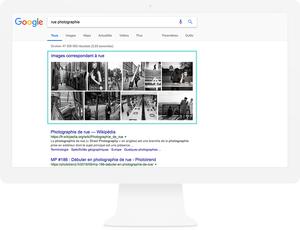 Les résultats de Google images