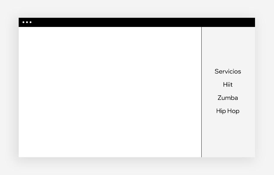 Diseño web: menú de navegación barra lateral
