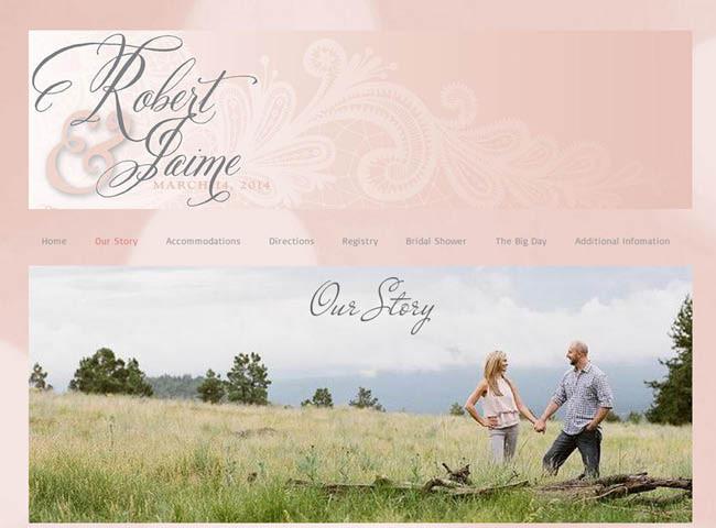 Site du mariage de Robert et Jaime