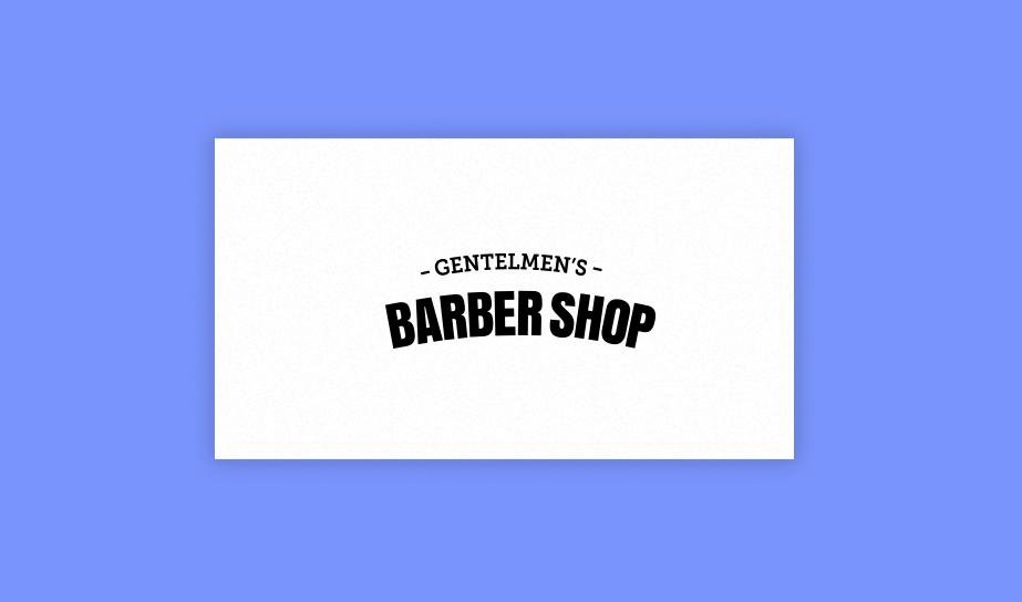 """Exemplo de logo no estilo marca nominativa (Wordmark) para a marca fictícia """"Gentlemen's barber shop"""""""
