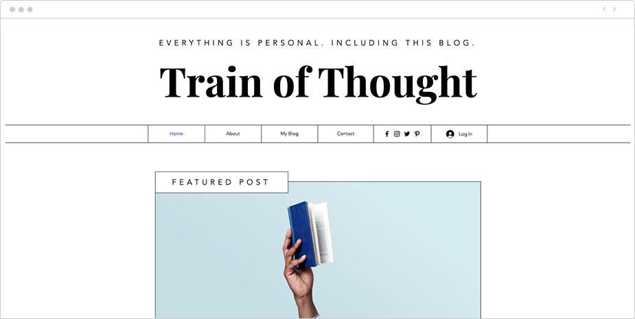 Пример сайта для блога