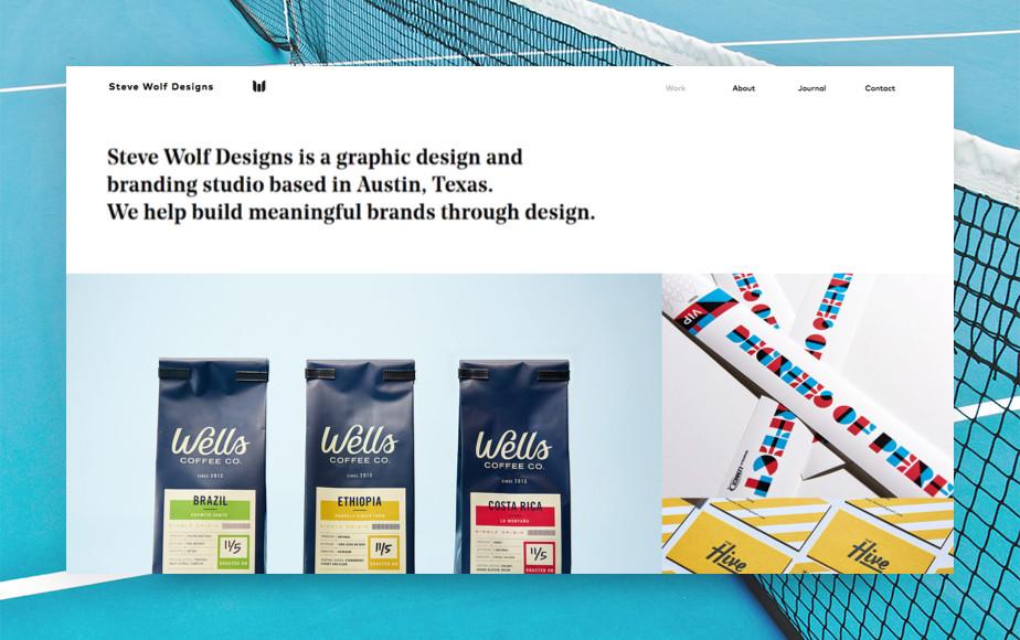 De beste portfolio website: Steve Wolf Designs
