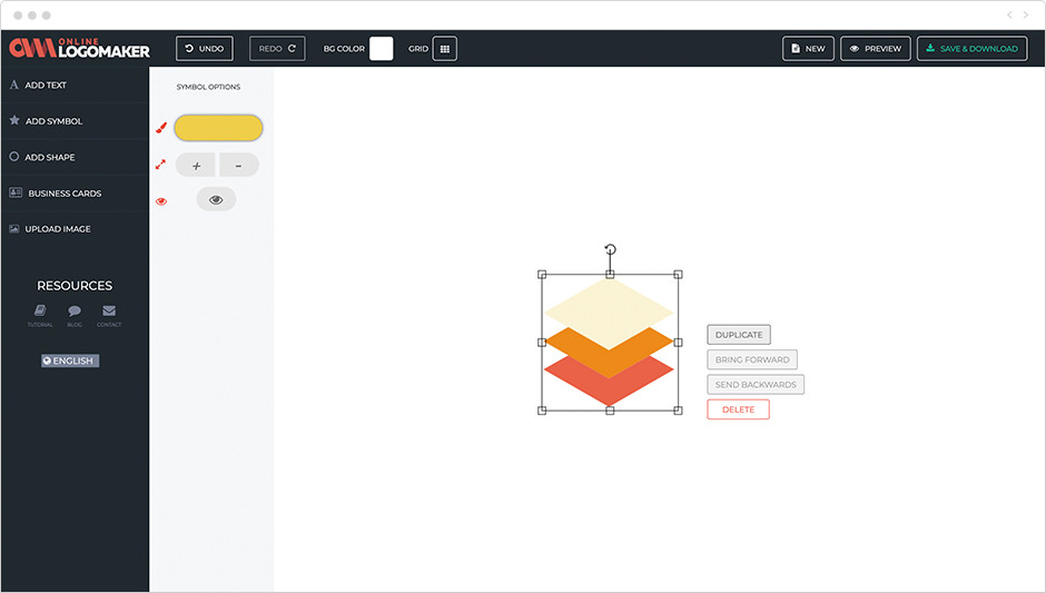Programma per la creazione di loghi 14. Online Logo Maker