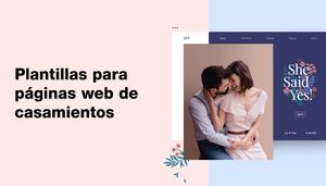 Ejemplos de plantillas de páginas web para bodas
