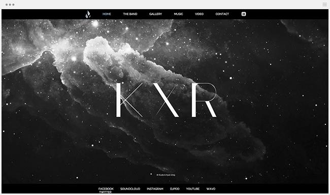 KXR - сайт Wix Music