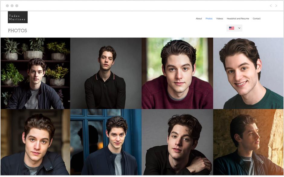 Actor website by Tadeo Martinez