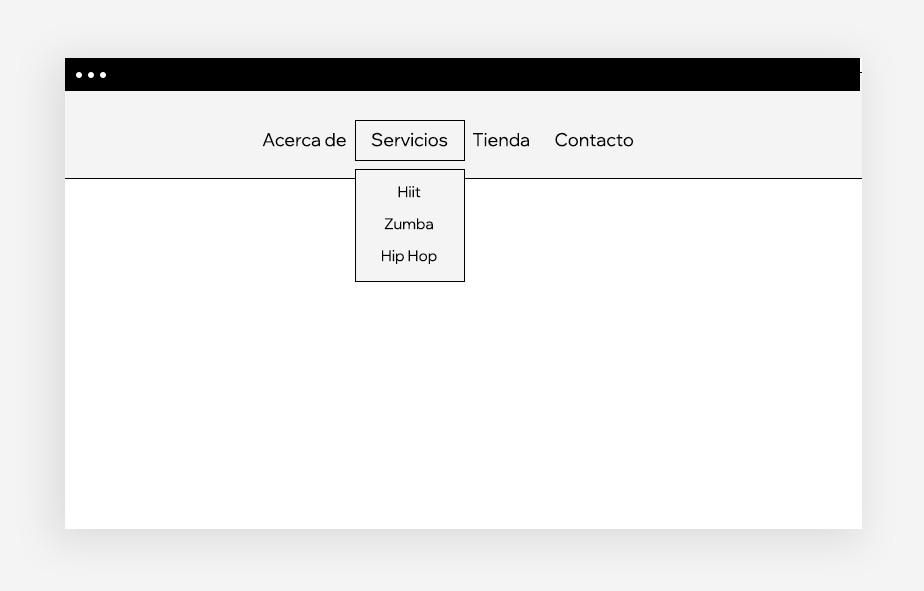 Diseño web: menú de navegación desplegable