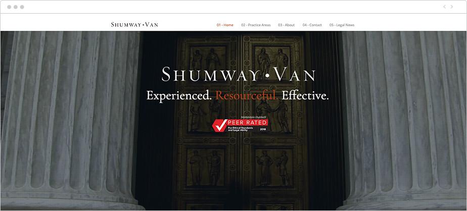 Best law firm websites Shumway Van