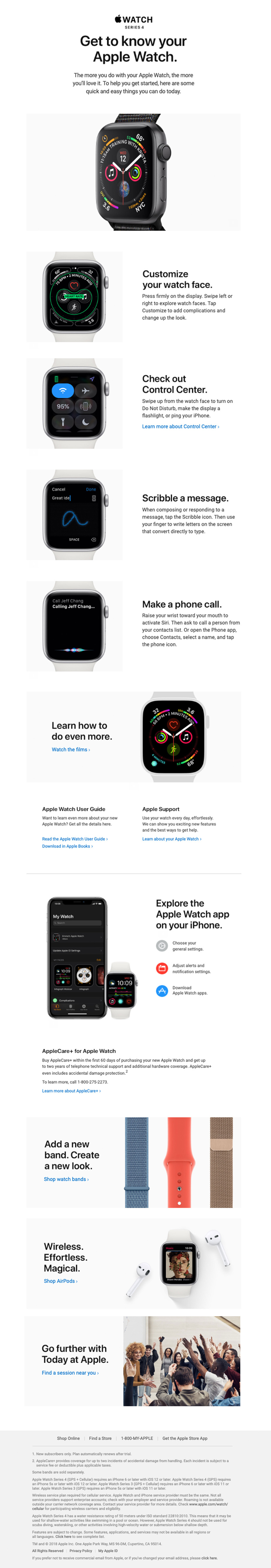 Welcome email by Apple