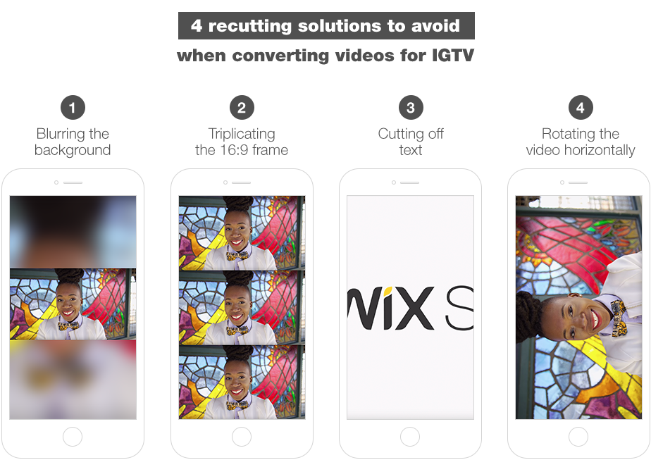 avoid these recutting solutions when converting video content for IGTV