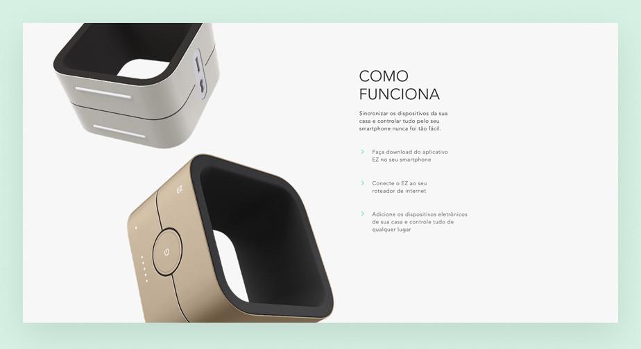 Template de site de eCommerce para gadgets para casa