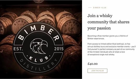 La community Bimber Distillery sul loro sito