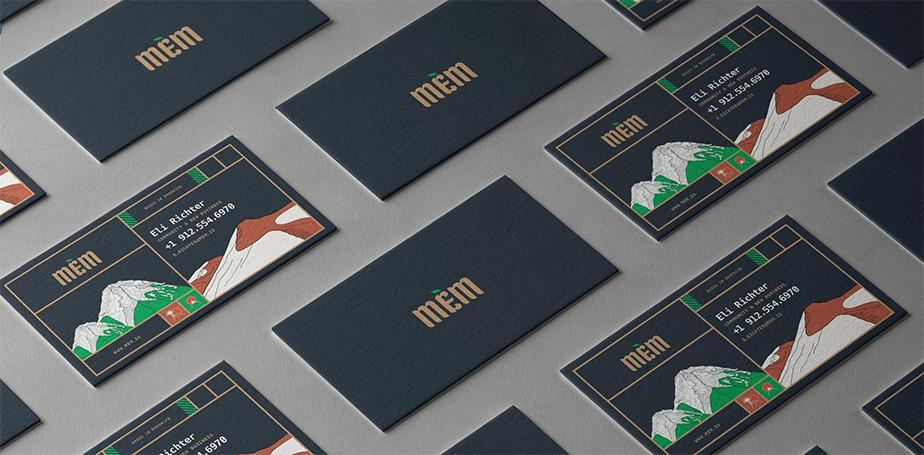 Ejemplo de una tarjeta de presentación moderna