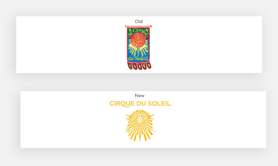 Примеры известных логотипов: Cirque du Soleil