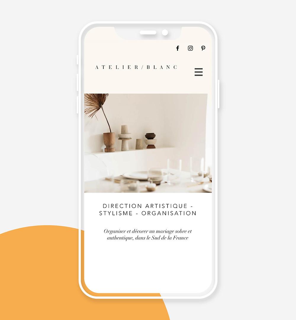 Atelier / Blanc mobile website