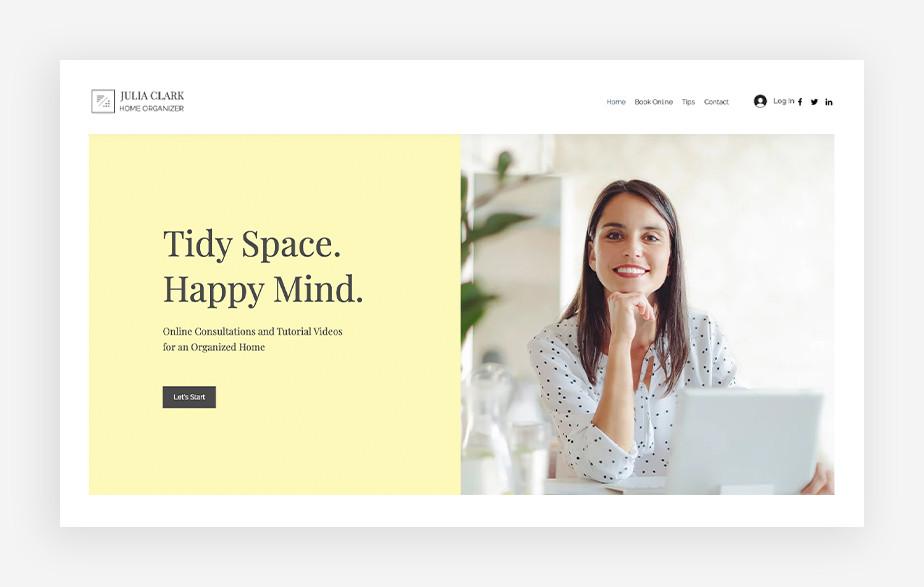 Organizacja i planowanie – strona internetowa usług