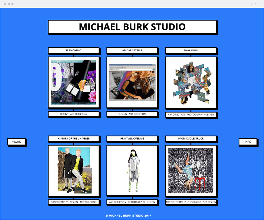 Michael Burk Studio Wix website