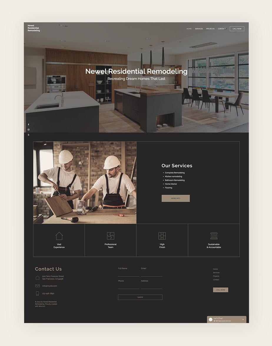 Ejemplo de página web empresarial