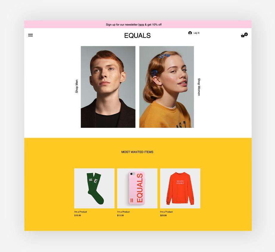 Urban fashion brand website template