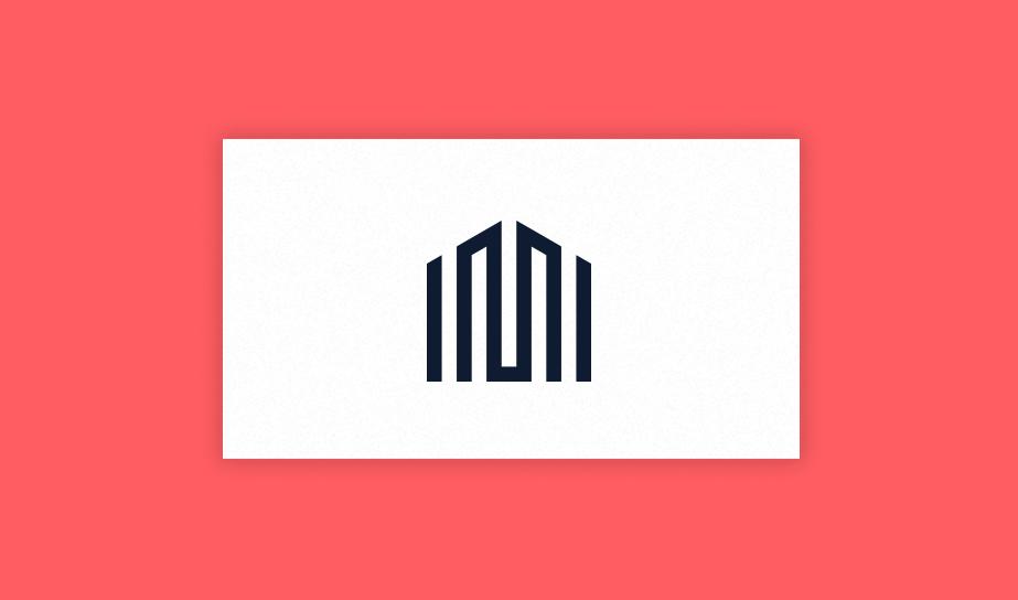 Exemplo de logo geométrico abstrato