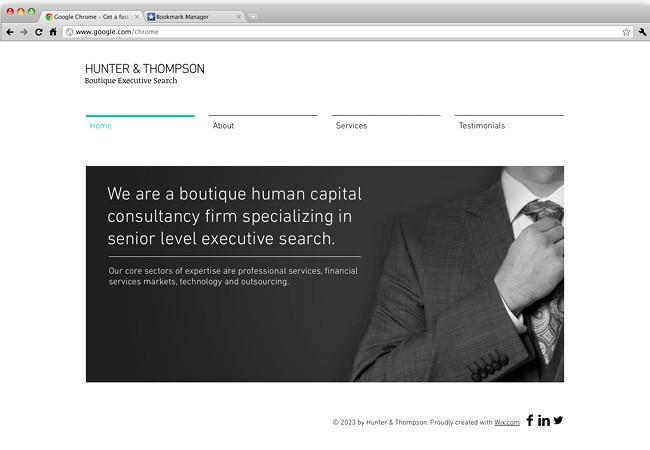 Шаблон для профессионального сайта
