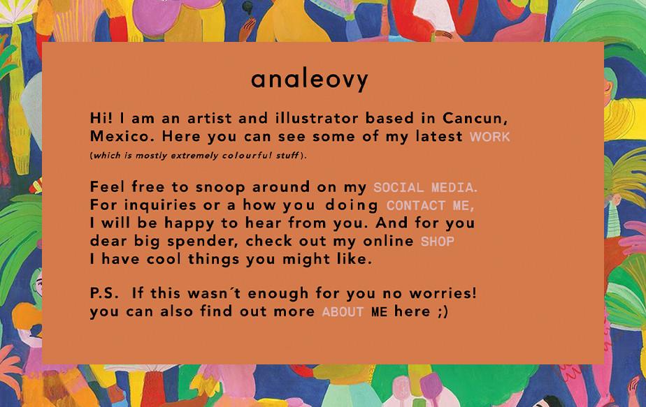 De beste portfolio website: Ana Leovy