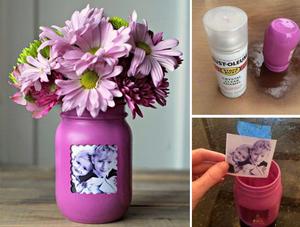 Last Minute Mother's Day Gift Ideas: Pinterest Inspired Picture Frame Flower Vase