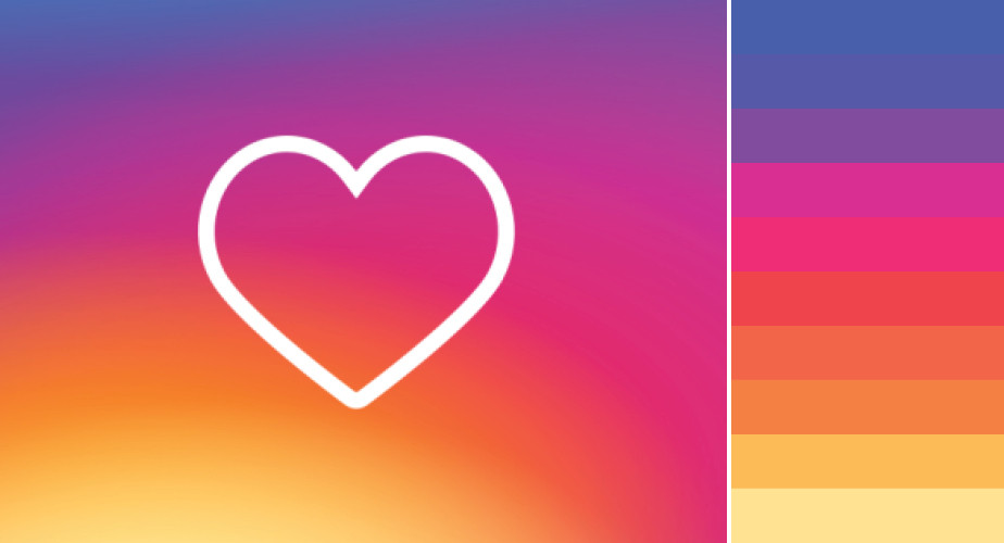 Paleta de cores do Instagram